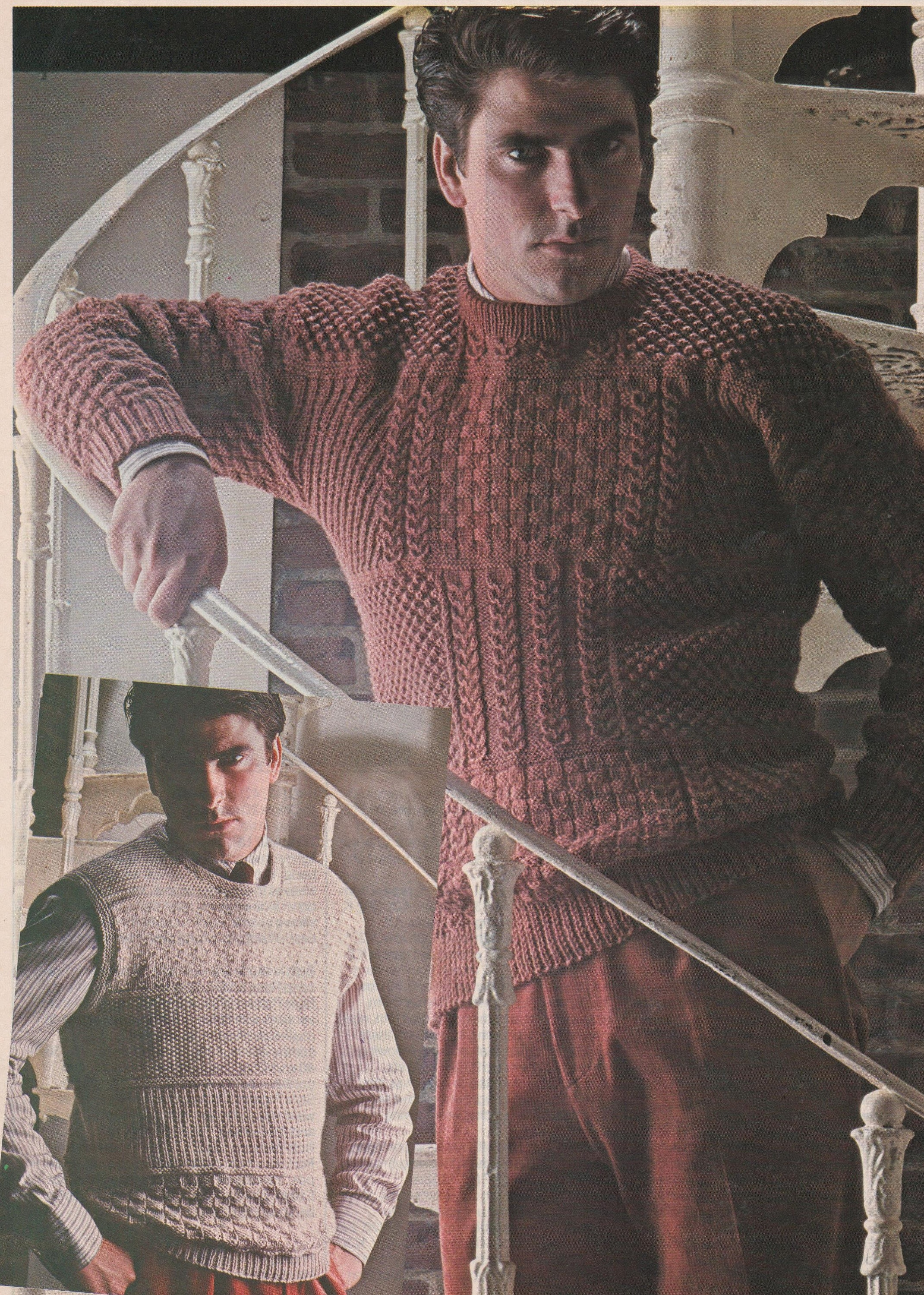 Instant Digital Download Pdf Row By Row Knitting Pattern Men S Mans