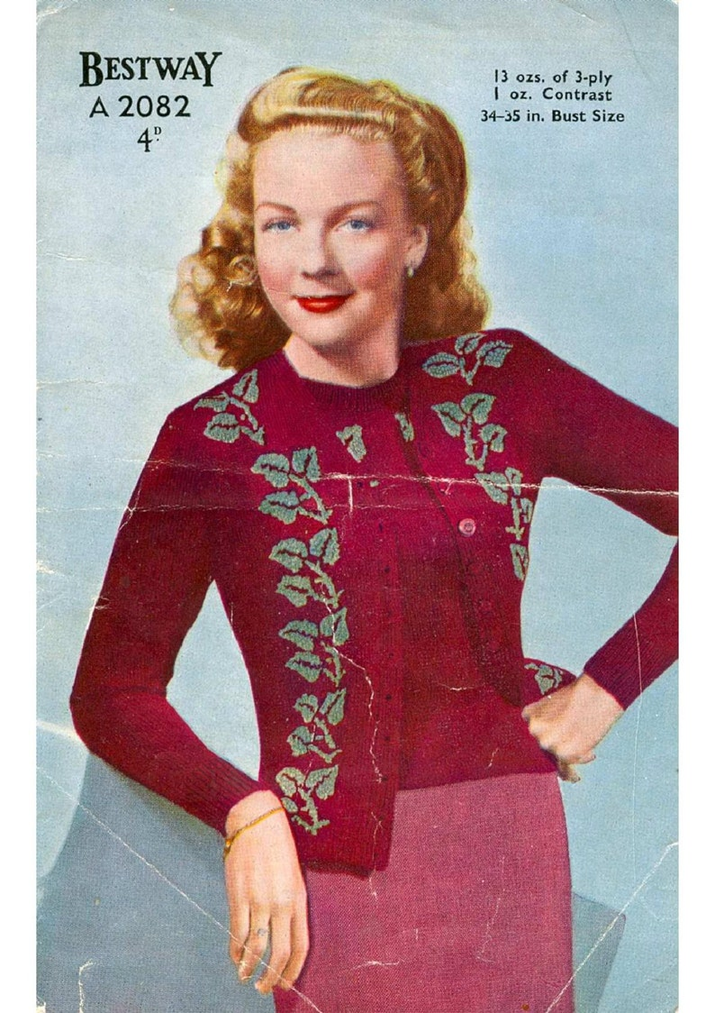 eb4cb1f52 ALMOST FREE Instant PDF Download Vintage Knitting Pattern to