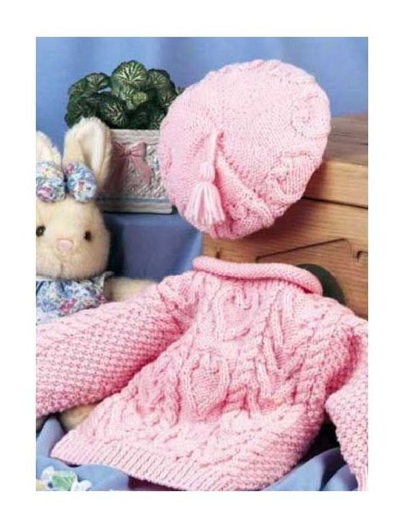 Almost Free Pdf Download Vintage Row By Row Knitting Pattern Etsy