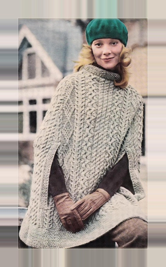 5e2400ea0843f ... Instant PDF Download Knitting Pattern to make a Ladies Superb One Size  Classic Aran Cable