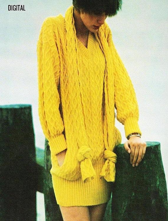 6519ed5cb228c Instant PDF Digital Download Vintage Knitting Pattern Ladies