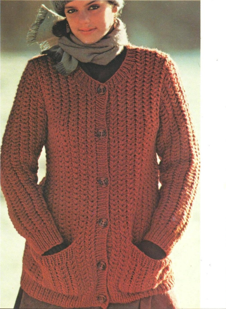 c46f59a54 ALMOST FREE Instant Download PDF Vintage Knitting Pattern to