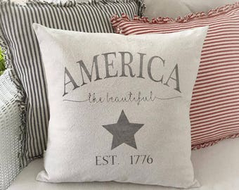 America, Patriotic, Americana, Fourth of July, Pillow Cover