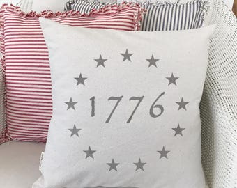 Patriotic, Americana, Fourth of July, Pillow Cover