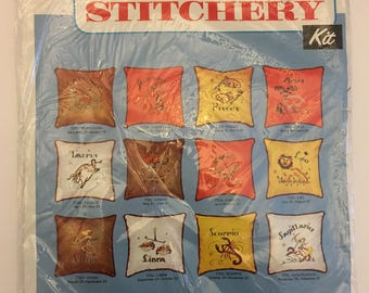 VIRGO Creative Stitchery Crewel Pillow KIT