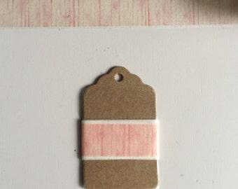 Washi Tape Samples- Pink Wood