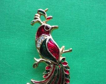 1950's Costume Jewelry Phoenix Pin