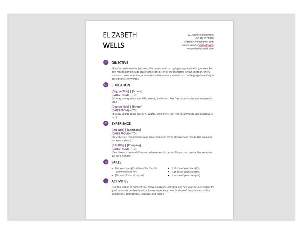 Profesional curriculum vitae Plantilla Word Doc CV plantilla | Etsy