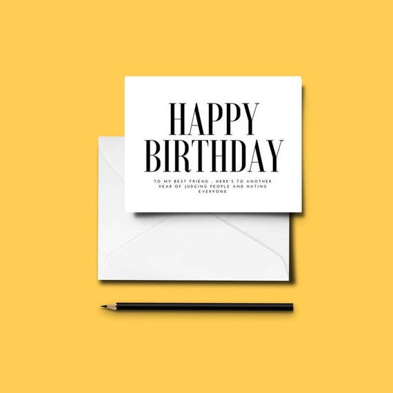 Funny BEST FRIEND Birthday Card Bestie Love Friends