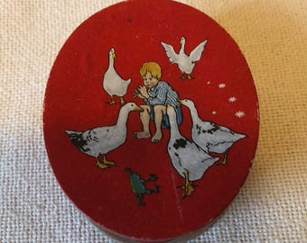 Old Miniature German Lithgraphed Paper Candy Box