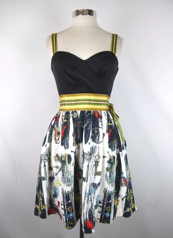 Key dress, strapless dress silk dress, DVF Diana v