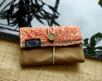 THE TRIP INDO17M92• VEGAN• Portemonnaie/ wallet with hemp / travel wallet / woman wallet / phone wallet /made in Berlin