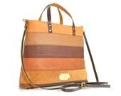Tan Leather Bag/Brown Tote/Leather Handbag/Leather Tote Bag/Leather Purse/Medium-Large/Retro-Vintage/Everyday/Cross Body/Shopper/Ipad/Women