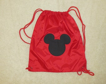 Minnie mouse head custom boutique hand applique bag string etsy