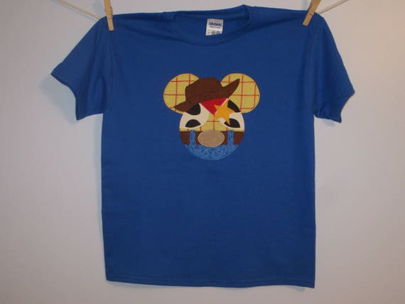 Toy story woody mouse head custom boutique t shirt tee holiday etsy