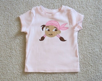 iZZY Head from JAKE and the NeVeRLaND PiRaTeS Custom Boutique T SHIRT Tee PeTeR PaN