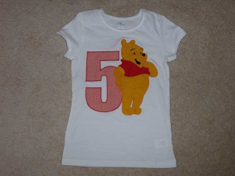 cc62ebe330303 WiNNie the PooH BiRTHDaY AGe and FRieNDS Custom Boutique T SHIRT Tee  HoLiDaY Vacation 100 Acre Woods Hundred ES528