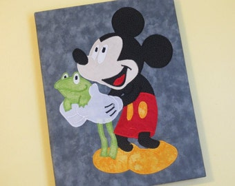 MICKEY with FRoG Custom Boutique WaLL ART Picture Canvas
