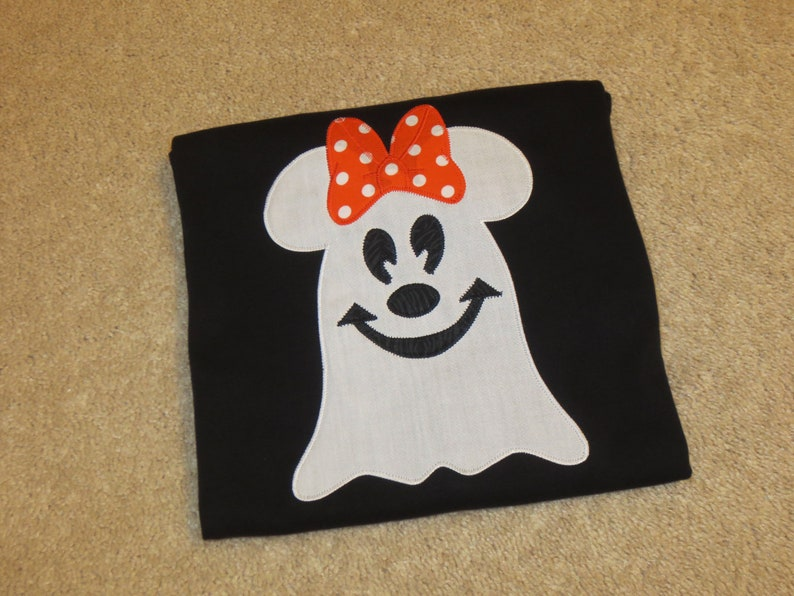 8c03a7364d832 MiCKeY or MiNNie Mouse GHoST HALLOWEEN Custom Boutique T SHIRT Tee Holiday  Vacation Fall
