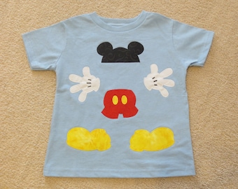 MICKEY Body PARTS Custom Boutique T SHIRT Tee MoUSE