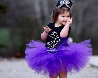 birthdays and more photoshoots Glitter baby girl tutu for parties Purple and Gold Tutu Preemie to youth sizes