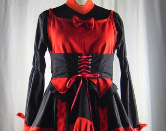 9c72c91751 Gothic lolita dress Deadpool inspired