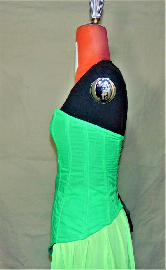 sexy lingerie burlesque gothic corset culotte outfit hot Overbust corset chiffon pants burlesque skirt RxnaSHZ