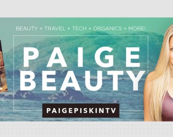 YouTube Banner - Travel, Blogger, Vegan, Lifestyle Design Template (with tutorial)
