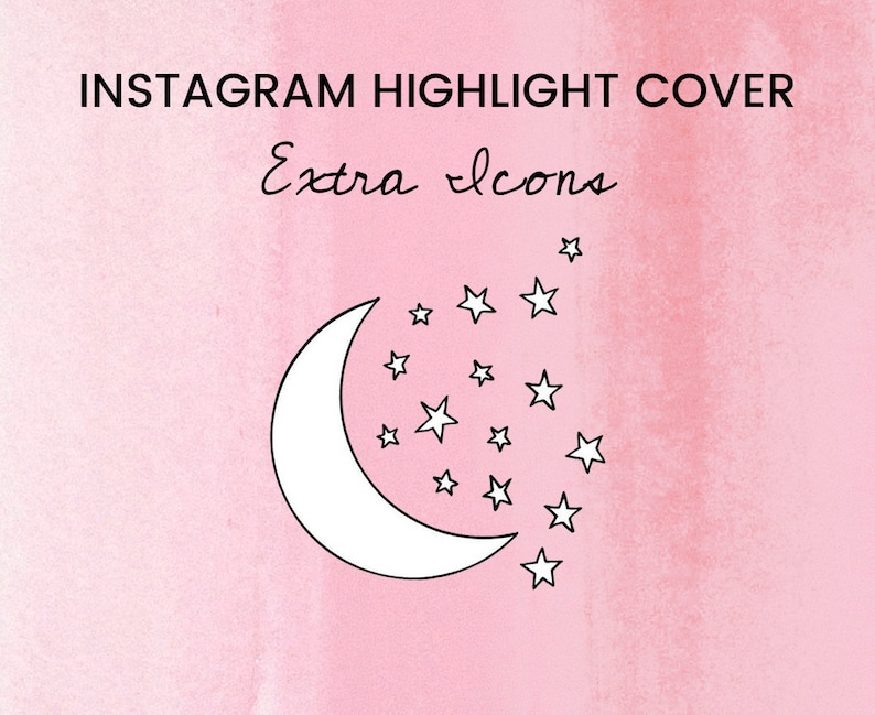 Instagram Story Highlights Cover Icons - One Hand Drawn Instagram Icon, IG  Stories, Social Media, Graphics Bundle, Fashion Travel Bloggers