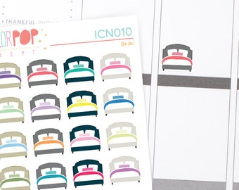 Bed Stickers, Change the sheets stickers, Bed Planner Stickers - ICN010