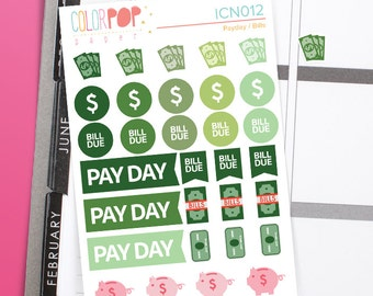Payday Stickers, Pay Day Stickers - ICN012
