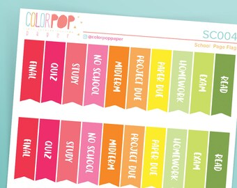 College Stickers, College School Stickers, College Planner Stickers - SC004, SC005, SC006
