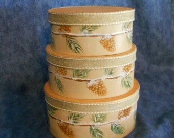 Wooden Gift Keepsake boxes - set of 3