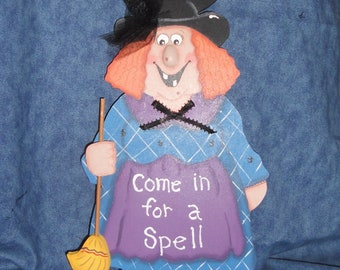 Halloween Witch Wall Plaque