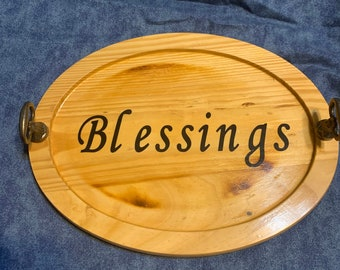 Blessings Wooden Tray