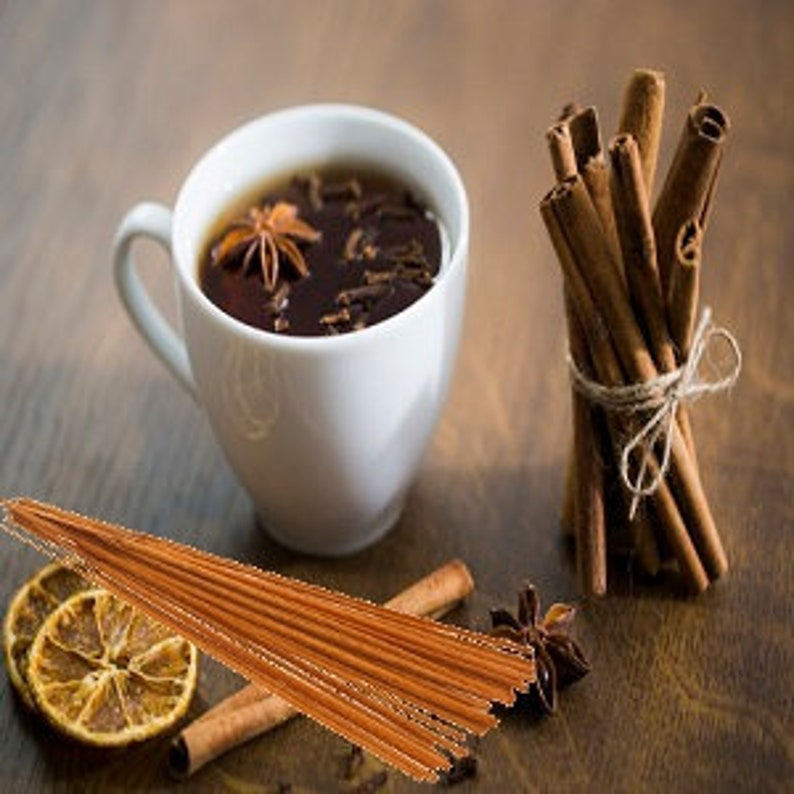 Incense Sticks 11 Cinnamon Tea Scented 25 Pack of Hand Dipped 1 Hour Burning Sticks Buy 3 Get 1 Free Mix /& Match