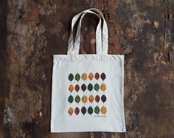 Autumn Lover Gift Grocery Tote Fall Season Bag Autumn Print Bag Eco Friendly Bag Fall In Love Slogan Tote Bag Autumn Leaves