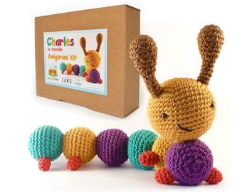 Chenille / Caterpillar - Amigurumi Crochet Kit - CHARLES