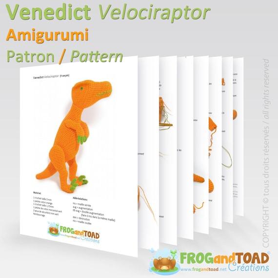 Dinosaur Velociraptor Amigurumi Crochet Pattern PDF   Etsy
