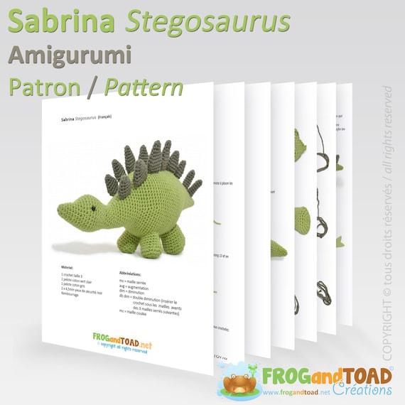 Dinosaur Stegosaurus Amigurumi Crochet Dino Pattern PDF   Etsy