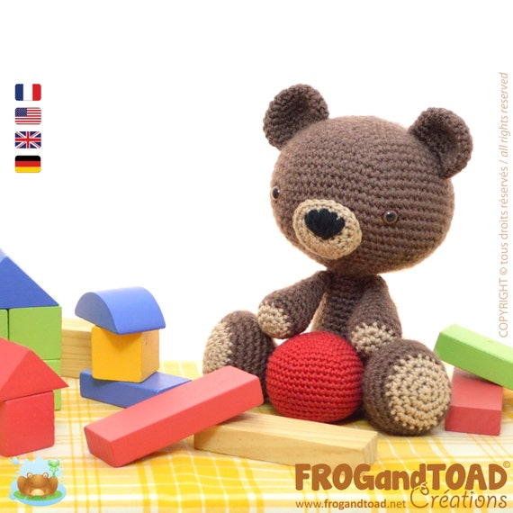 Amigurumi Crochet TEDDY BEAR Pattern PDF / Häkeln Teddybär Anleitung ...