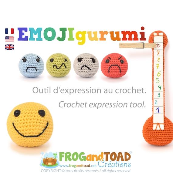 EMOJIgurumi Expression Emotion Tool Montessori Amigurumi | Etsy