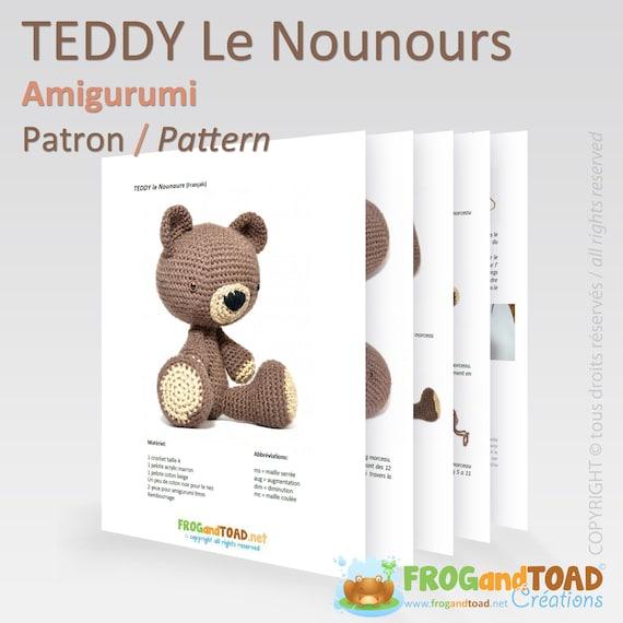 Amigurumi Crochet TEDDY BEAR Pattern PDF / Häkeln Teddybär   Etsy