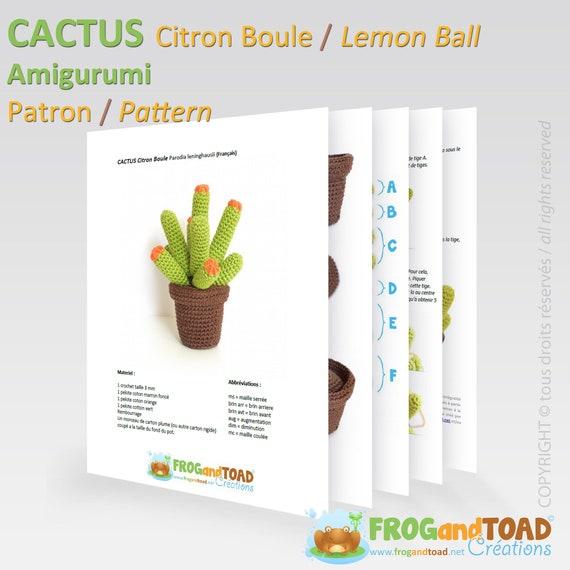CACTUS Lemon Ball Amigurumi Crochet PDF Pattern | Etsy