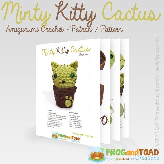 Minty Kitty Cactus Cat Flower Amigurumi Crochet Pattern   Etsy