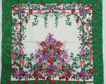 "Jim Thompson Floral silk scarf 33"" x 33"""