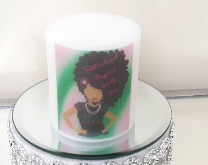AKA Sorority Afro Lady Sisterhood Wax Candle