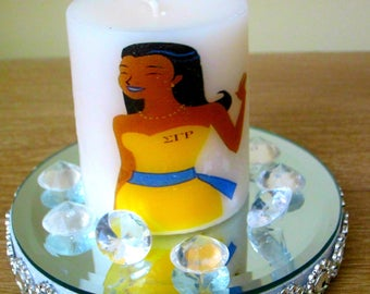 Sigma Gamma Rho Candle, logo candle, personalized candles, birthday gifts, anniversary gifts, fashion candles, vanity candles