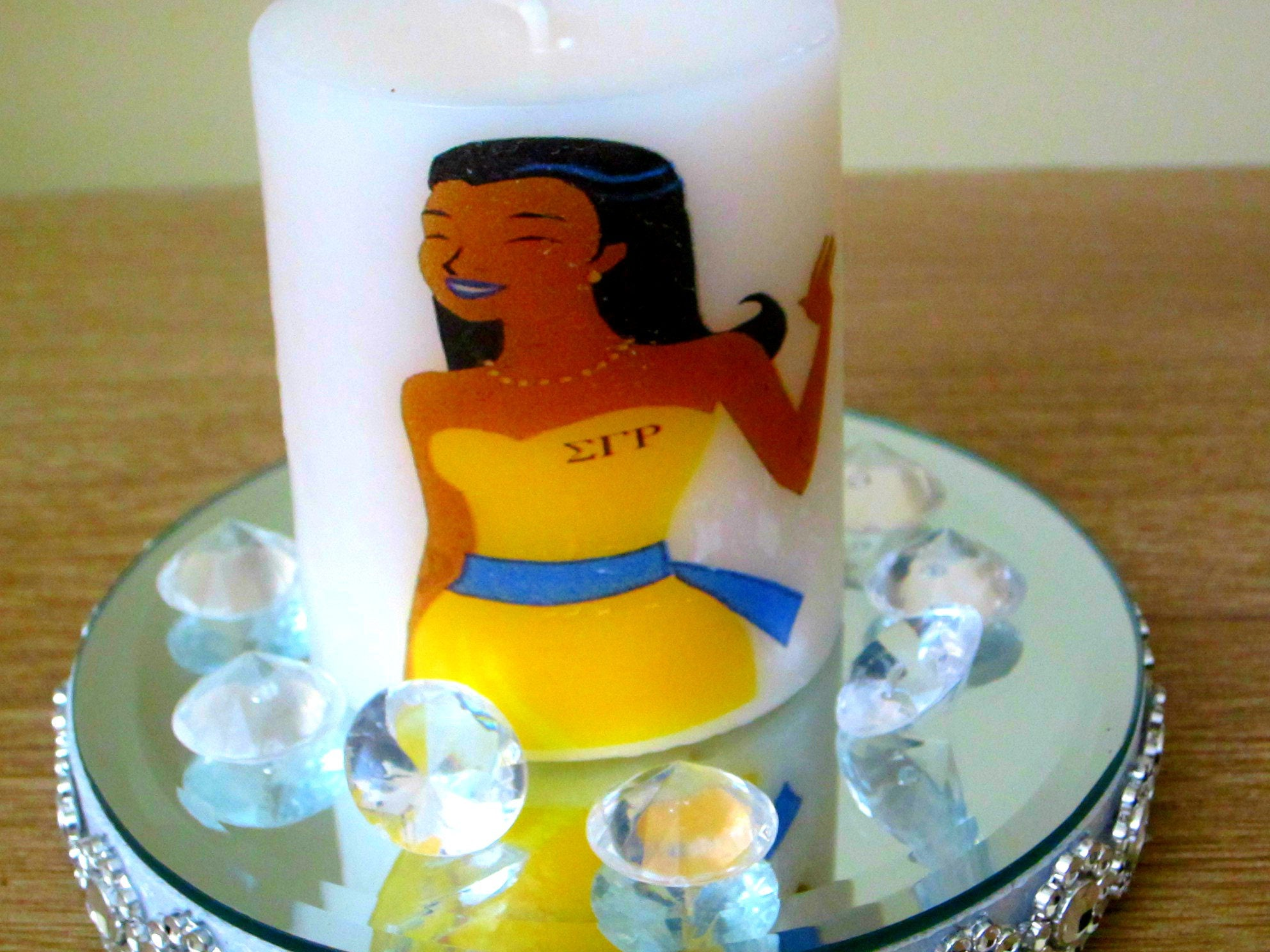 Sigma Gamma Rho Candle Logo Candle Personalized Candles