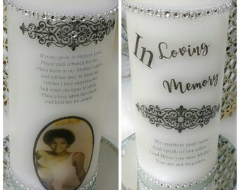 Memorial Candle, In memory of candle, wax candles